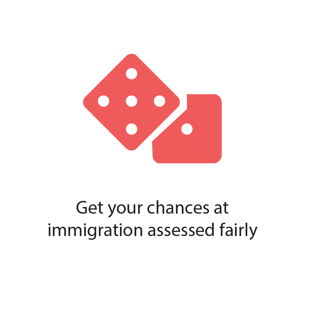 Get your chances at immigration assessed fairly