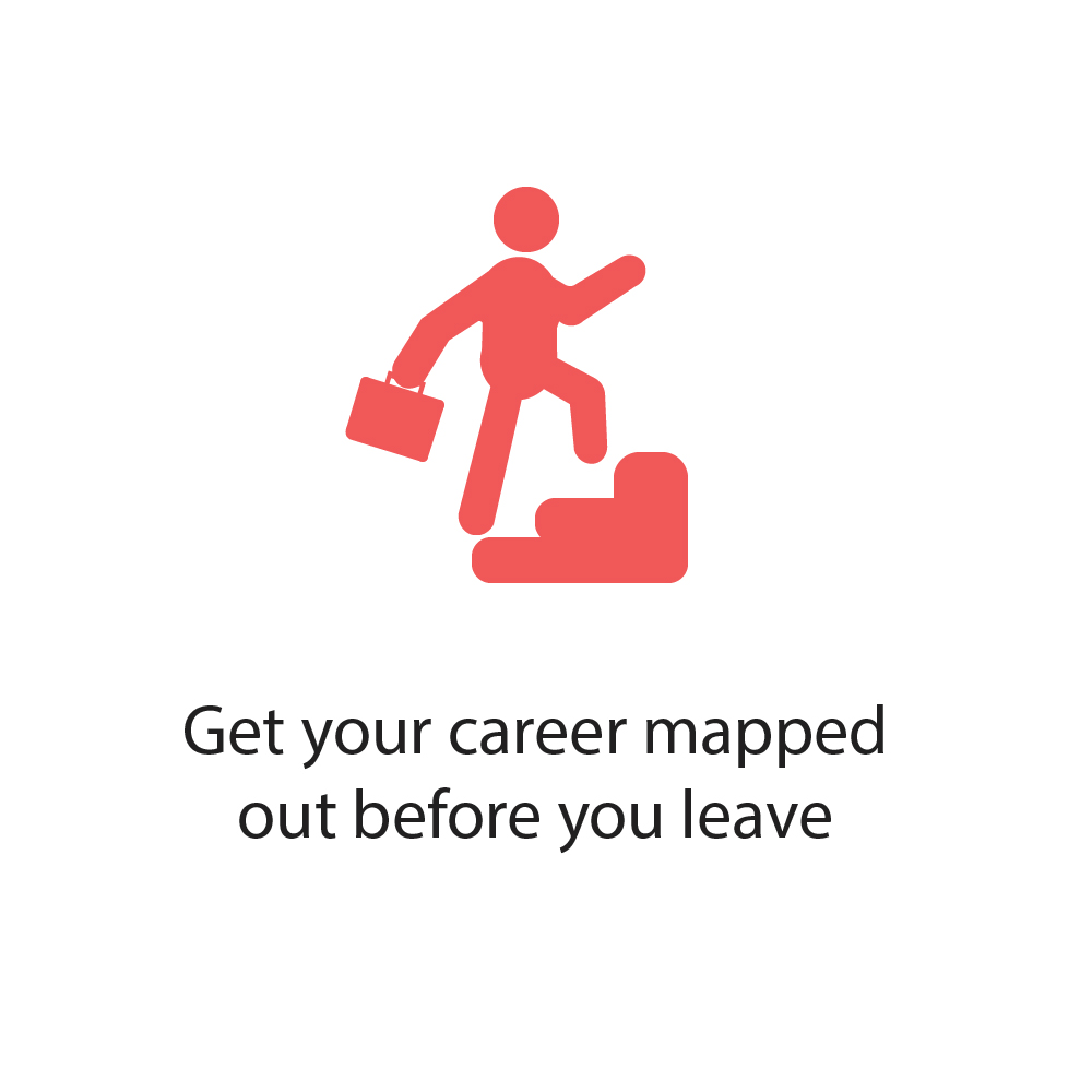 Get your career mapped out before you leave